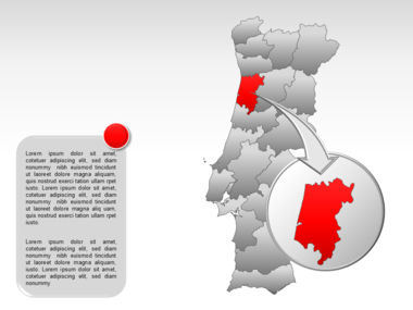 Portugal PowerPoint Map, Slide 16, 00010, Presentation Templates — PoweredTemplate.com