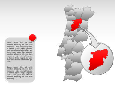 Portugal PowerPoint Map, Slide 17, 00010, Presentation Templates — PoweredTemplate.com