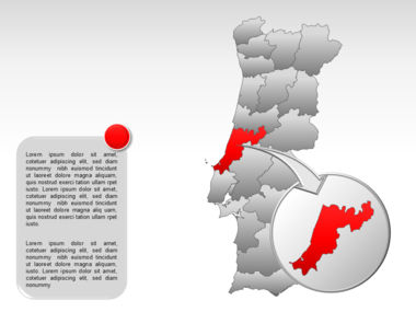 Portugal PowerPoint Map, Slide 19, 00010, Presentation Templates — PoweredTemplate.com