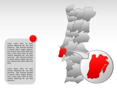 Portugal PowerPoint Map, Slide 20, 00010, Presentation Templates — PoweredTemplate.com