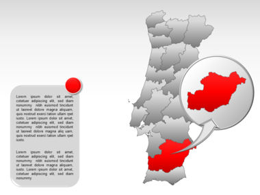 Portugal PowerPoint Map, Slide 22, 00010, Presentation Templates — PoweredTemplate.com