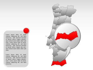 Portugal PowerPoint Map, Slide 23, 00010, Presentation Templates — PoweredTemplate.com