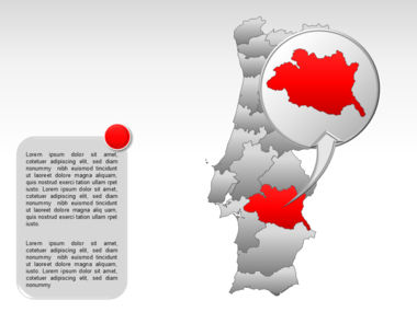 Portugal PowerPoint Map, Slide 24, 00010, Presentation Templates — PoweredTemplate.com
