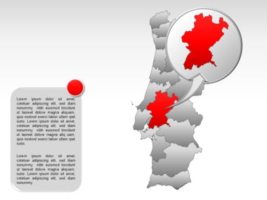 Portugal PowerPoint Map, Slide 26, 00010, Presentation Templates — PoweredTemplate.com