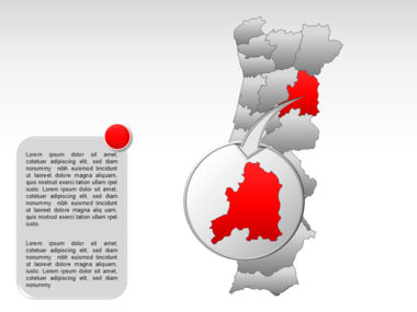 Portugal PowerPoint Map, Slide 27, 00010, Presentation Templates — PoweredTemplate.com