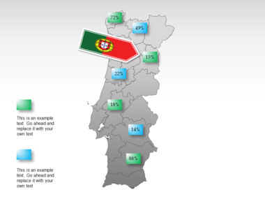 Portugal PowerPoint Map, Slide 31, 00010, Presentation Templates — PoweredTemplate.com