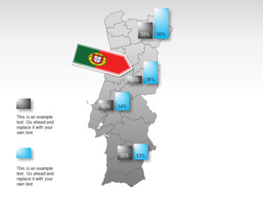 Portugal PowerPoint Map, Slide 32, 00010, Presentation Templates — PoweredTemplate.com