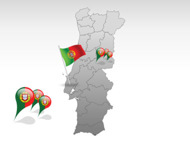 Portugal PowerPoint Map, Slide 4, 00010, Presentation Templates — PoweredTemplate.com