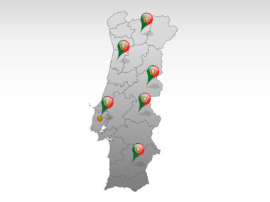 Portugal PowerPoint Map, Slide 5, 00010, Presentation Templates — PoweredTemplate.com