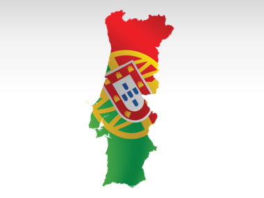 Portugal PowerPoint Map, Slide 7, 00010, Presentation Templates — PoweredTemplate.com