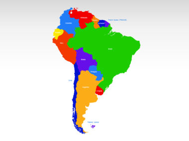 South America PowerPoint Map Slide 2