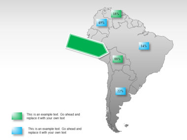 South America PowerPoint Map Slide 25