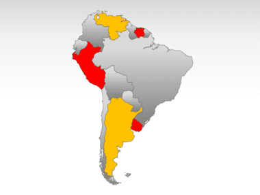 South America PowerPoint Map Slide 9