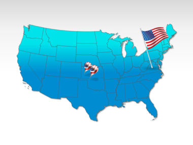 USA: De Verenigde Staten PowerPoint Map #00012
