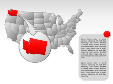 The USA PowerPoint Map Slide 13