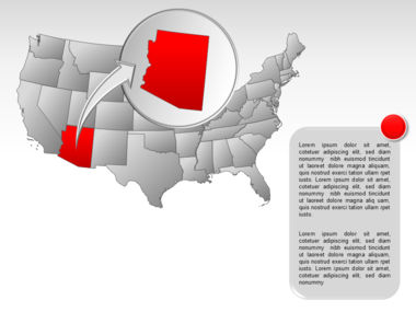 The USA PowerPoint Map Slide 18