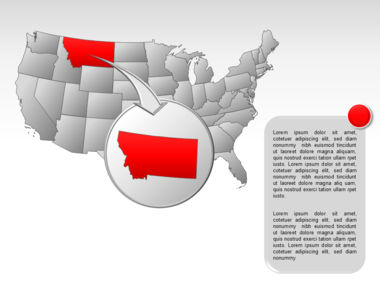 The USA PowerPoint Map Slide 19