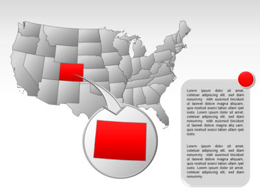 The USA PowerPoint Map Slide 22