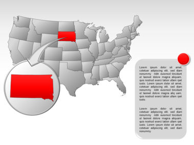 The USA PowerPoint Map Slide 26
