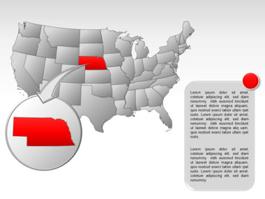 The USA PowerPoint Map Slide 27