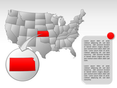 The USA PowerPoint Map Slide 28