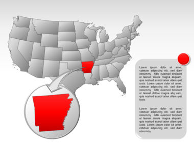 The USA PowerPoint Map Slide 33