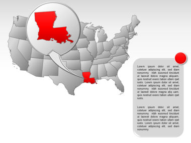 The USA PowerPoint Map Slide 34