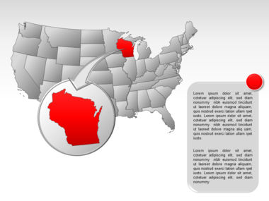 The USA PowerPoint Map Slide 35