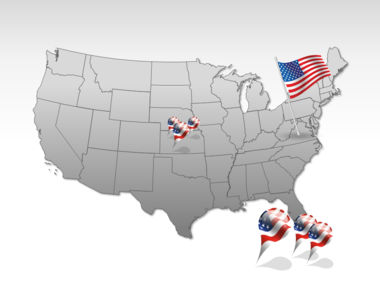 The USA PowerPoint Map Slide 4