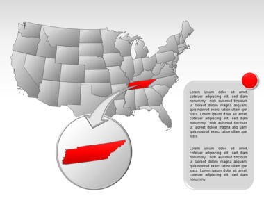 The USA PowerPoint Map Slide 41