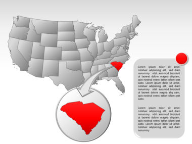 The USA PowerPoint Map Slide 42