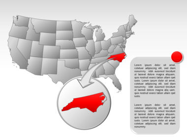 The USA PowerPoint Map Slide 43