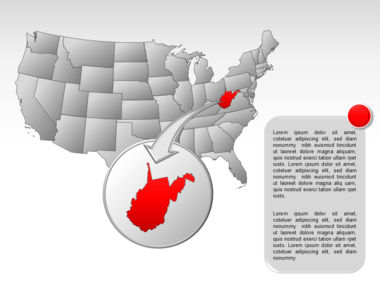 The USA PowerPoint Map Slide 45