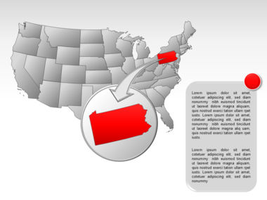 The USA PowerPoint Map Slide 46