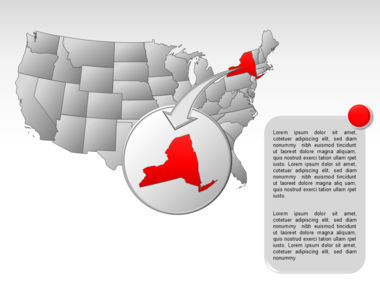 The USA PowerPoint Map Slide 47