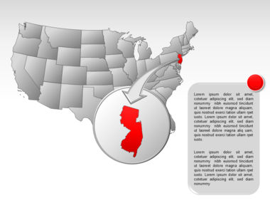 The USA PowerPoint Map Slide 49