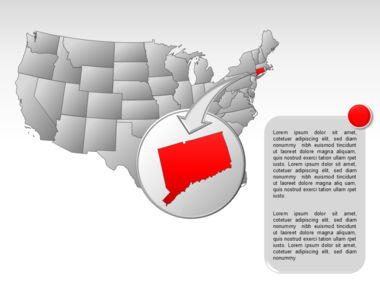 The USA PowerPoint Map Slide 50