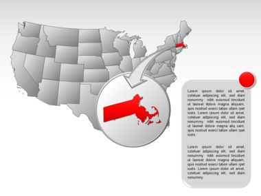 The USA PowerPoint Map Slide 52