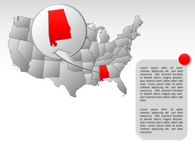 The USA PowerPoint Map Slide 57