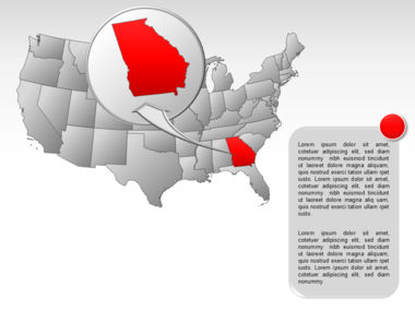 The USA PowerPoint Map Slide 58