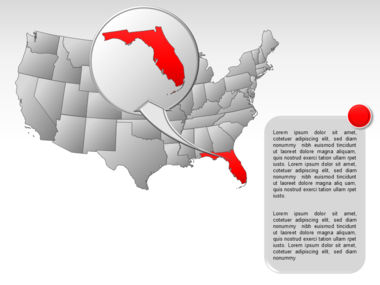 The USA PowerPoint Map Slide 59