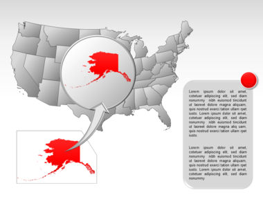 The USA PowerPoint Map Slide 60