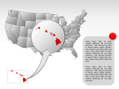 The USA PowerPoint Map Slide 61
