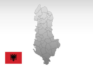 Albania PowerPoint Map Slide 10