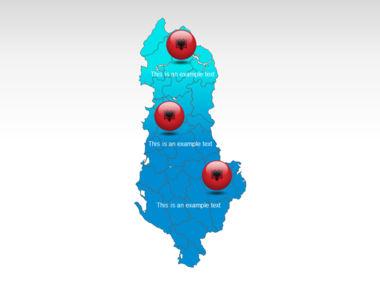 Albania PowerPoint Map Slide 12