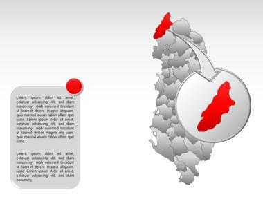 Albania PowerPoint Map Slide 13