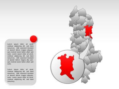 Albania PowerPoint Map Slide 14