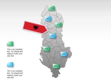 Albania PowerPoint Map Slide 15