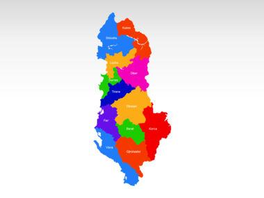 Albania PowerPoint Map Slide 2