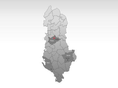 Albania PowerPoint Map Slide 3